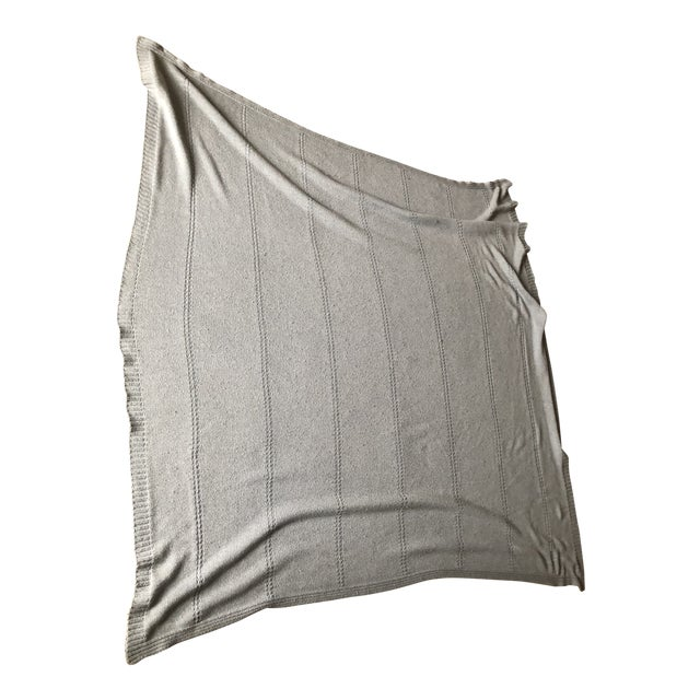 Barbara Barry Blue Throw For Sale