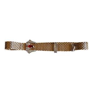 1940s Kreisler Jeweled Buckle Choker Necklace For Sale