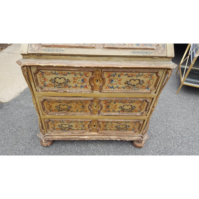 French Distressed Painted Secretary Desk - Image 8 of 11