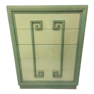 Kittinger Green Greek Key Chest of Drawers