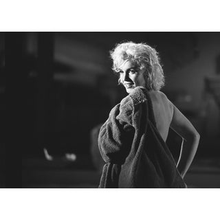 """Marilyn Monroe Putting on a Robe"" Photograph by Lawrence Schiller, 24/75 For Sale"