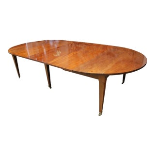 French Louis XVI Mahogany Extension Dining Table For Sale