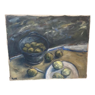 1950s Still Life Painting of Fruit For Sale