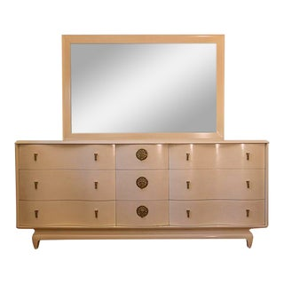 "Kent Coffey ""The Penthouse"" Asian Inspired Credenza Dresser & Mirror For Sale"
