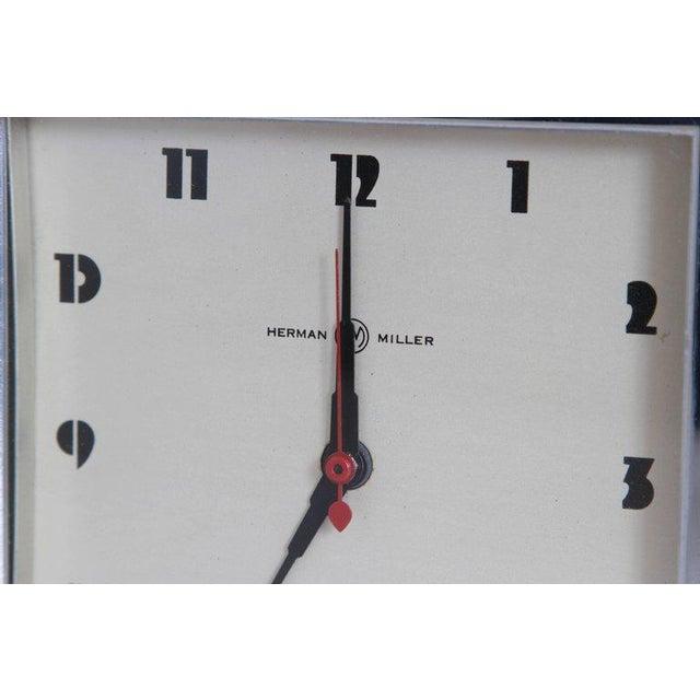 Art Deco Machine Age Art Deco Gilbert Rohde for Herman Miller Original Working Clock For Sale - Image 3 of 11