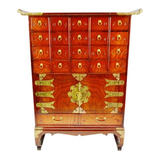 Vintage Chinese Apothecary Cabinet For Sale