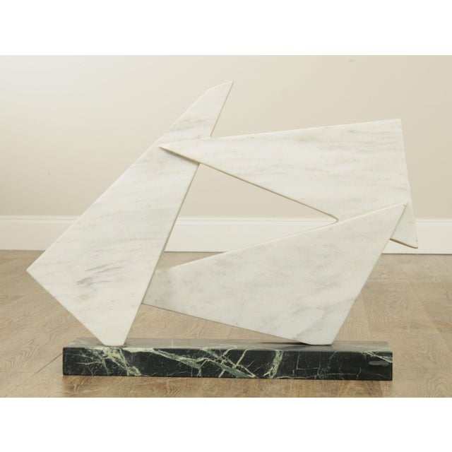 High Quality Handcrafted Marble Sculpture of Floating Geometric Designs by Richard Bailey Store Item#: 25576
