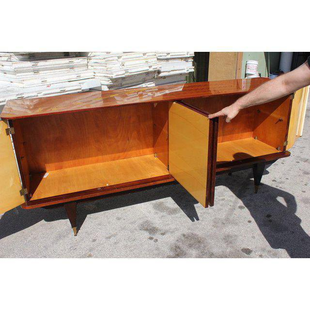 French Art Deco Exotic Rosewood Sunburst Sideboard / Buffet Circa 1940s - Image 5 of 10