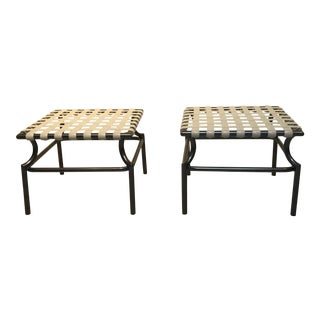 1960s Mid-Century Modern Tropitone Cantina Series Patio Stools - a Pair For Sale