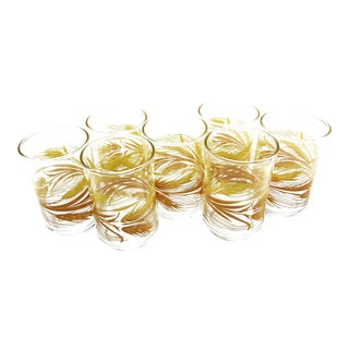 Vintage Libbey Glass Co. Mid-Century Modern Drinking Glasses - Set of 7 For Sale