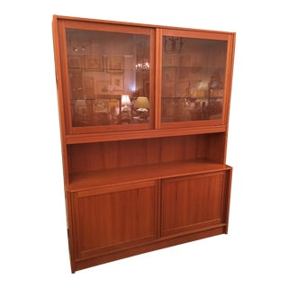 1960s Mid Century Modern Teak Display Cabinet