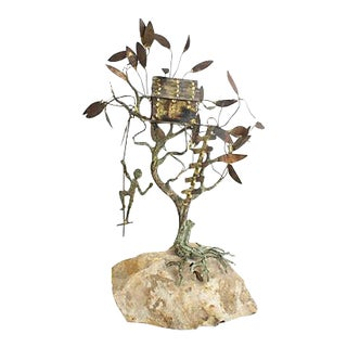 Copper Brutalist Treehouse Sculpture For Sale