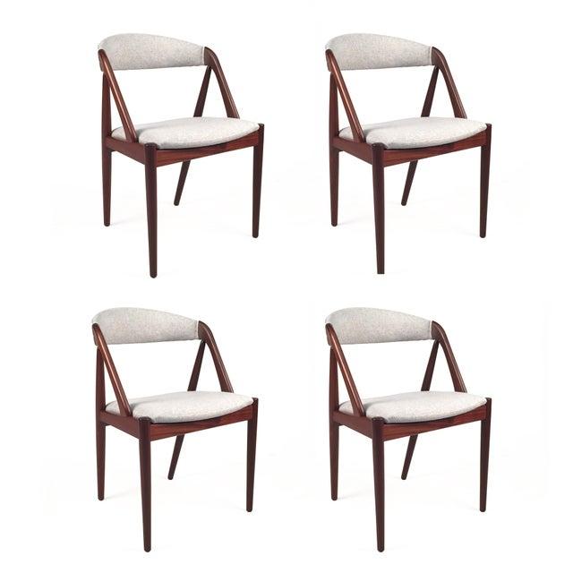 Vintage Danish Kai Kristiansen Model #31 Teak Dining Chairs - Set of 4 - Image 9 of 9