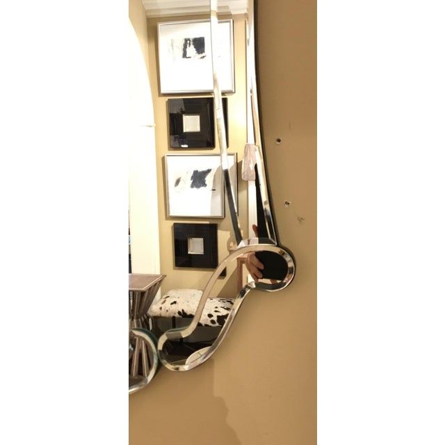 Stylish Ave Home modern Venetian style Carlyle wall mirror, showroom floor sample, original retail $1529