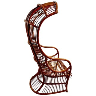 Dramatic Bamboo Hood Chair For Sale