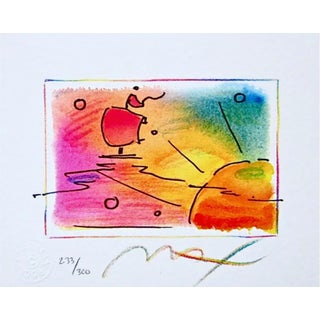 Peter Max Sunset Sail 1998 For Sale