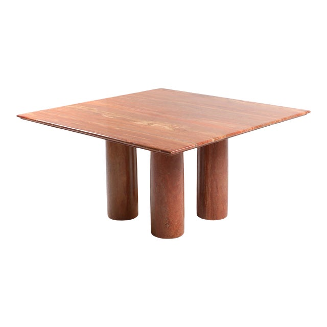Mario Bellini's Red Travertine 'Il Collonato' Dining Table For Sale