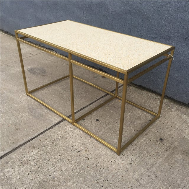 Paul Laszlo Custom Brass and Terrazzo Table For Sale - Image 5 of 8