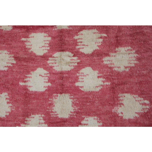 """Modern Hand Knotted Ikat Rug by Aara Rugs Inc. 10'10"""" X 8'2"""" For Sale - Image 3 of 3"""