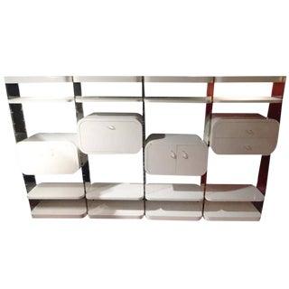 Pierre Cardin Lucite & Lacquer Wall Unit