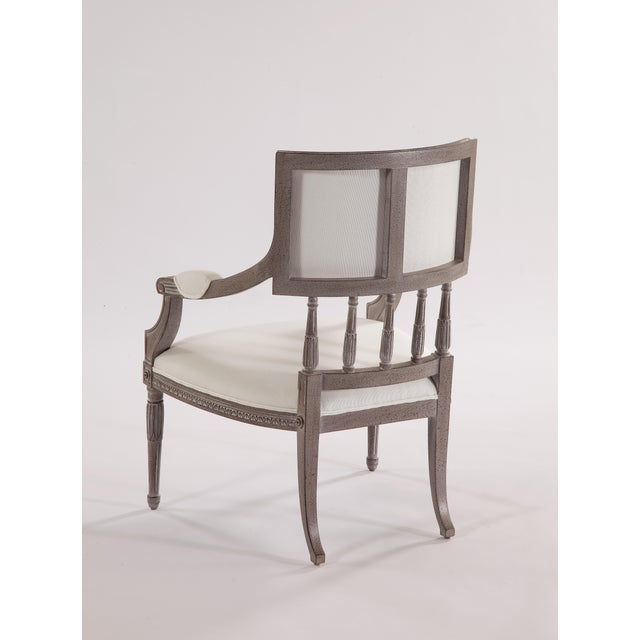 Traditional Swedish Spindle Back Dining Arm Chair For Sale - Image 3 of 5