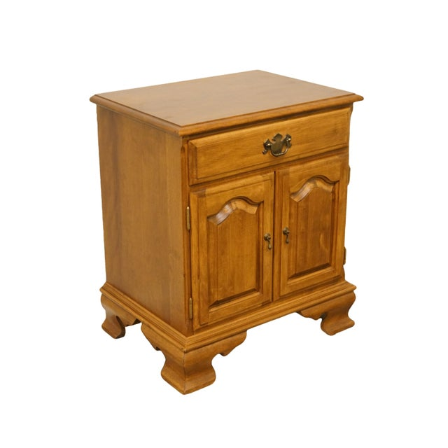 """Ethan Allen heirloom nutmeg maple 22"""" cabinet nightstand. We specialize in high end used furniture that we consider to be..."""