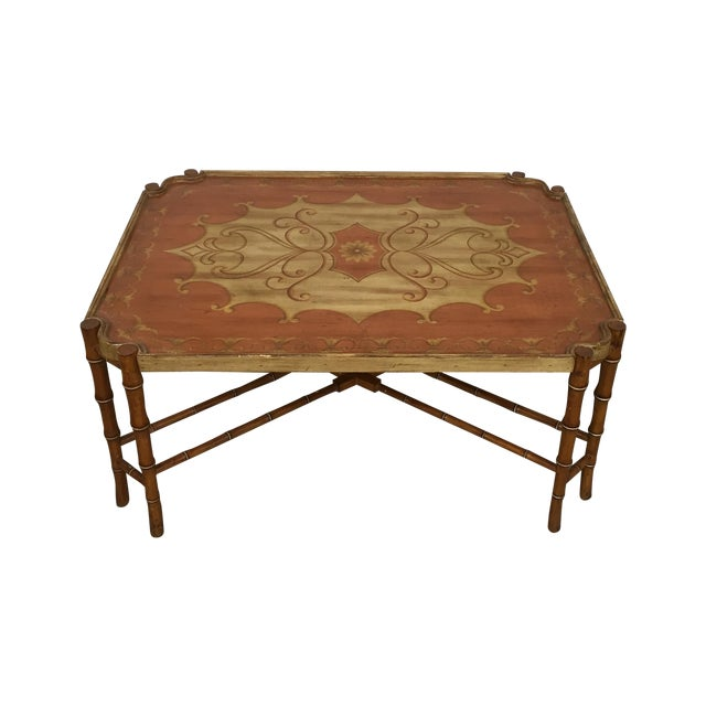 Vintage Faux Bamboo Coffee Table Chairish