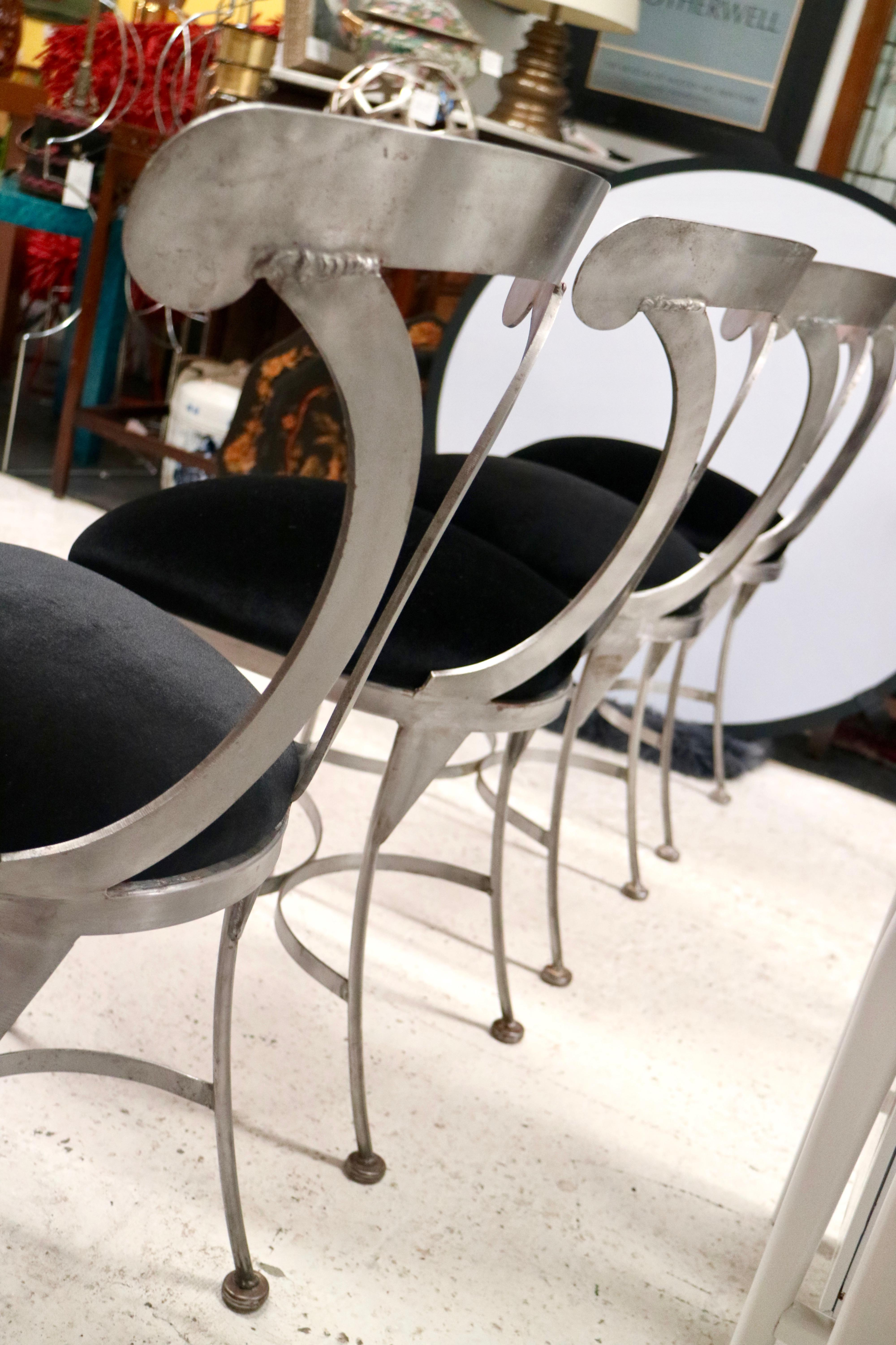 Great Shaver Howard Metal Dining Chairs   Set Of 4   Image 8 Of 11