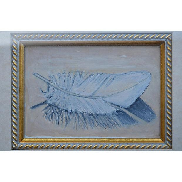'A Feather' Original Painting by Marcia Morehart - Image 3 of 3
