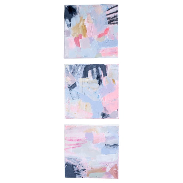 Original Abstract Paintings by Brenna Giessen- S/3 - Image 1 of 4