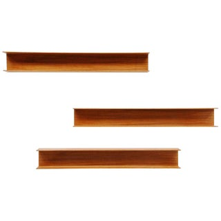 Set of 3 Teak Walter Wirz Wall Shelves
