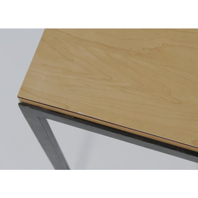 1950s 1950s Mid-Century Modern Florence Knoll T Angle Table With a Birch Laminate Top For Sale - Image 5 of 13