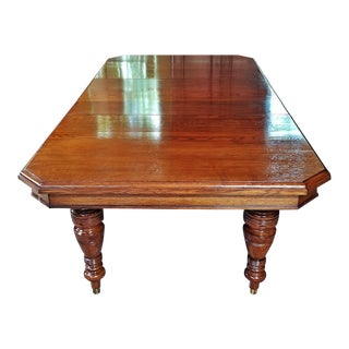 19c Irish Oak Telescopic Dining Table - Exceptional For Sale