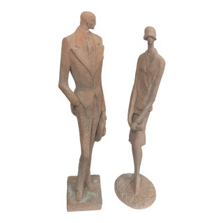 Austin Productions Man and Woman Statues - Set of 2 For Sale