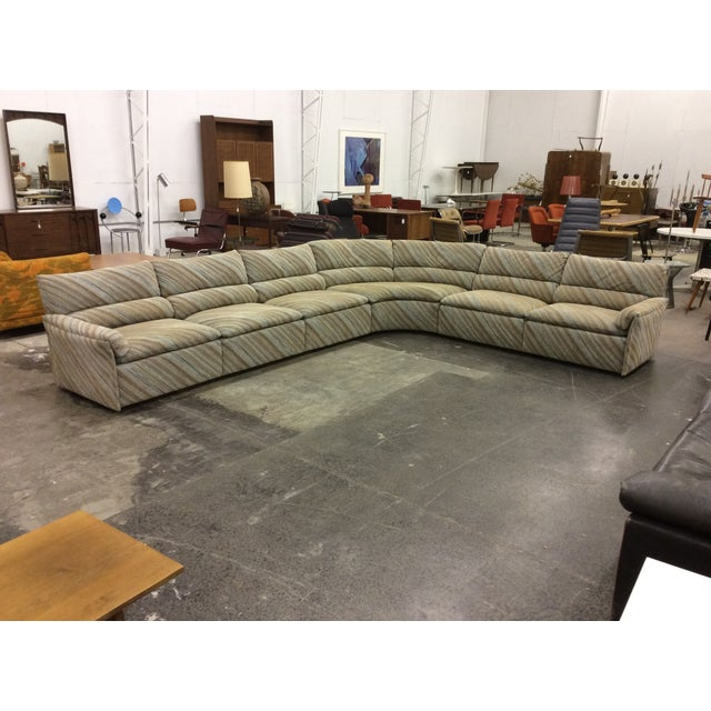 Great 20' six-piece Saporiti Italia sectional sofa. Sofa is in excellent original condition, with very minor wear. Awesome...