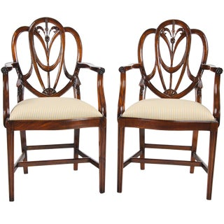Sweet Heart Arm Chairs - A Pair For Sale