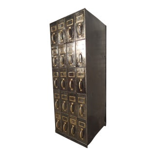 Massive Industrial Factory Card Catalog For Sale