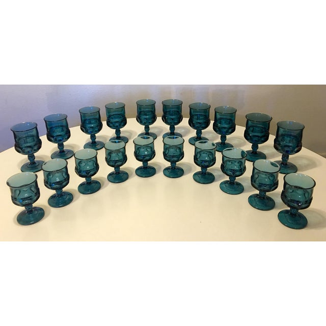 Teal Kings Crown Wine Goblets - Set of 20 - Image 2 of 5