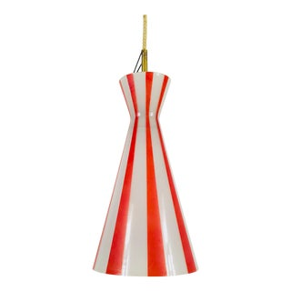 1960s Mid-Century Modern Diabolo Style Red and White Pendant Lamp, Germany For Sale