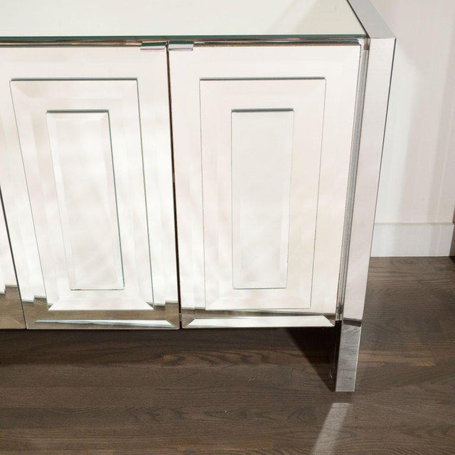 Ello Furniture Mid-Century Modern Mirrored and Chrome Sideboard by Ello For Sale - Image 4 of 10