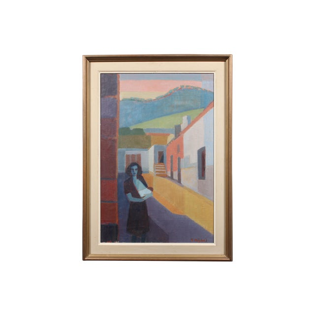 """Hoglund 1951 """"Pa Street Alicante Spain"""" Painting - Image 1 of 4"""