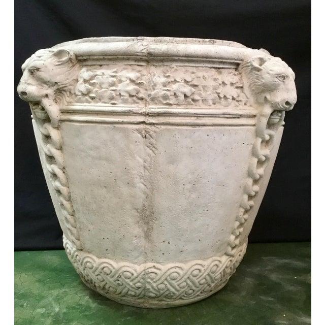 Traditional Vintage Concrete Lion Planters - a Pair For Sale - Image 3 of 13