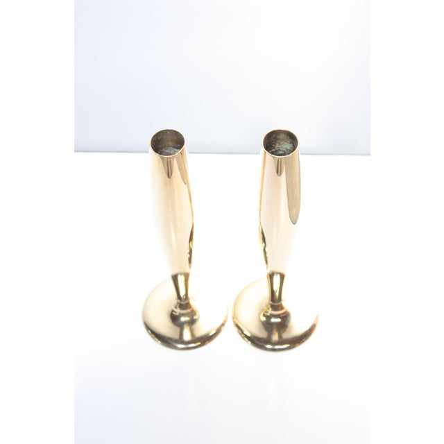Dirilyte Art Deco Dirigold Goldware Bud Vases - A Pair For Sale - Image 4 of 6
