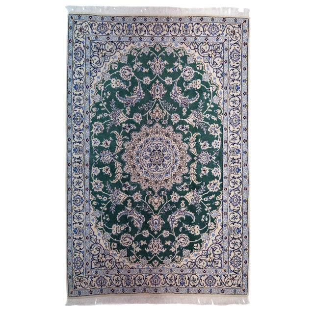 "New Traditional Hand Knotted Area Rug - 3'9"" x 5'9"" For Sale"