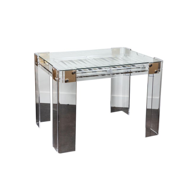 Lucite Backgammon Table in the Manner of Charles Hollis Jones For Sale - Image 11 of 11