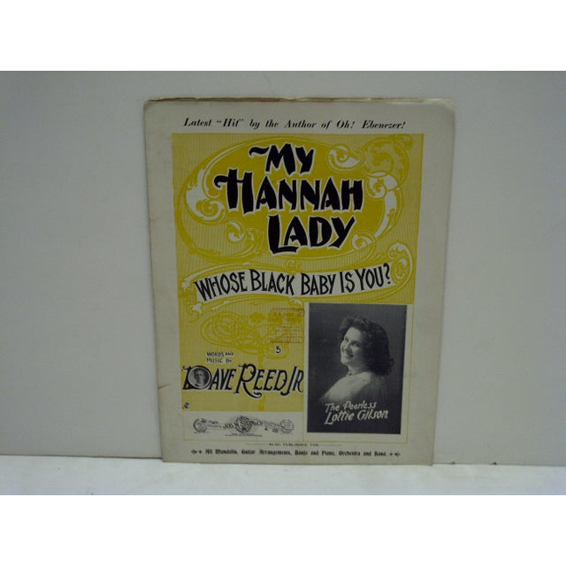 "American Vintage ""My Hannah Lady"" Sheet Music For Sale - Image 3 of 7"