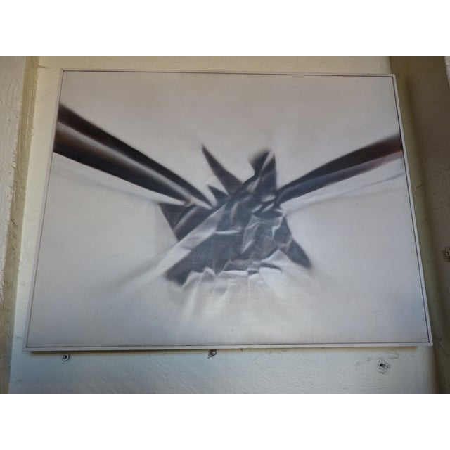 Modern Abstract Airbrush Painting - Image 2 of 5