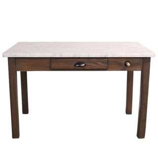 Vintage Italian Marble Top Baker's Table For Sale