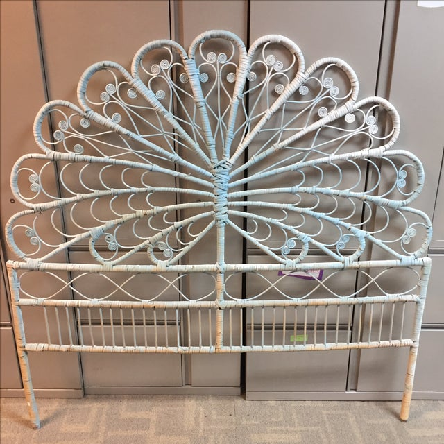 Boho Chic Peacock Full Headboard - Image 6 of 6