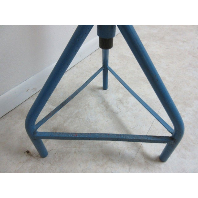 Antique Industrial Gear Metal Tripod Lamp End Table Stand For Sale - Image 9 of 11